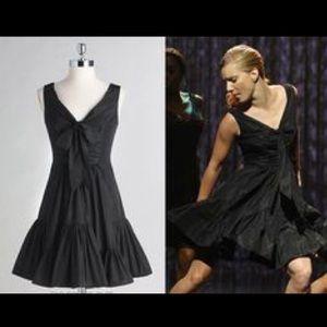 Jill Stuart black taffeta dress with bow accent
